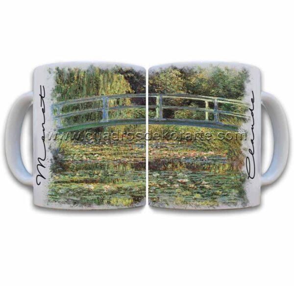 Tazas decoradas Claude Monet estanque de ninfeas