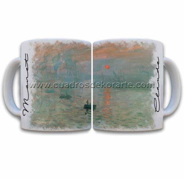 Tazas decoradas Claude Monet impresión sol naciente