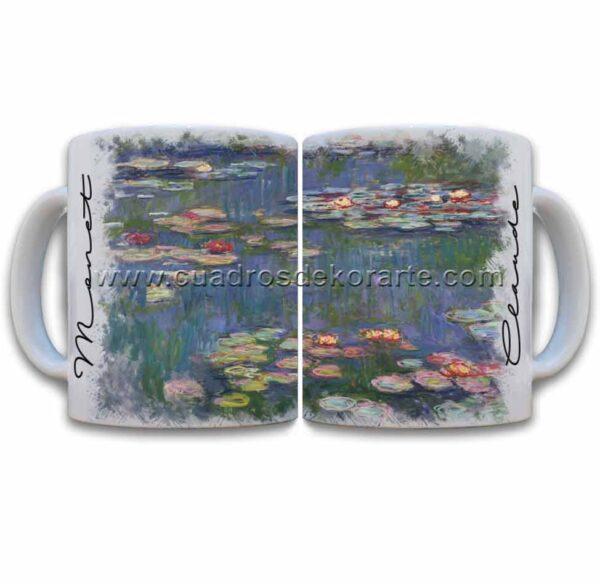 Tazas decoradas Claude Monet los nenúfares