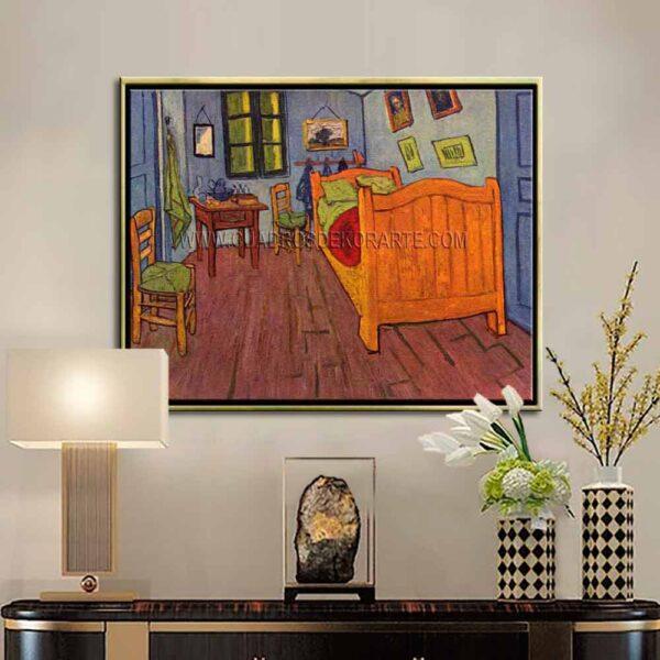 Cuadro decorativo el dormitorio en Arles de Vincent Van Gogh impresión digital en canvas