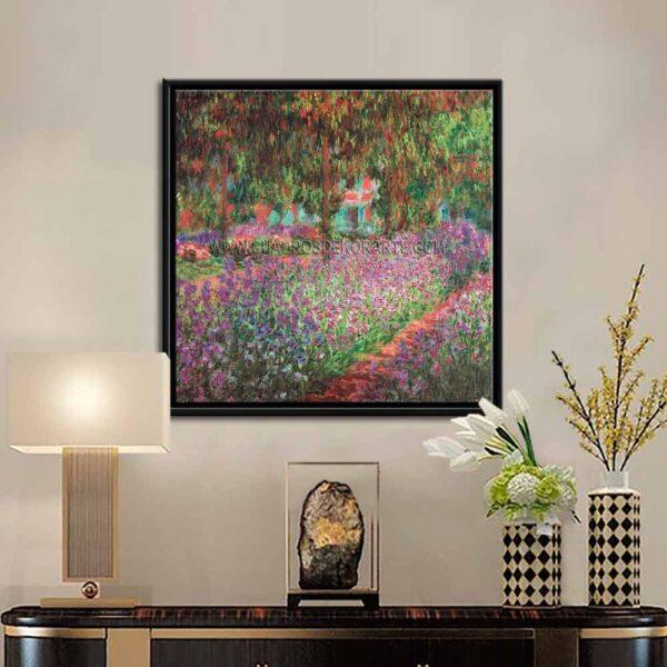 Cuadro decorativo El jardín del artista en Giverny de Claude Monet impresión digital en canvas