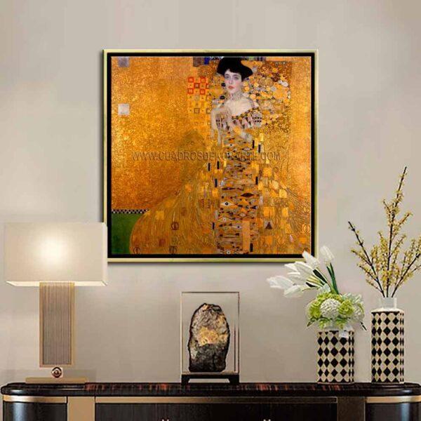 Cuadro decorativo la dama de oro de Gustav Klimt impresión digital en canvas