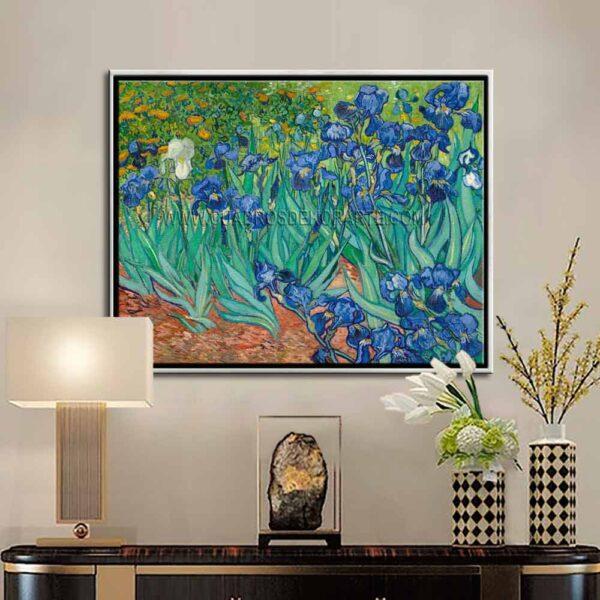 Cuadro decorativo los lirios de Vincent Van Gogh impresión digital en canvas