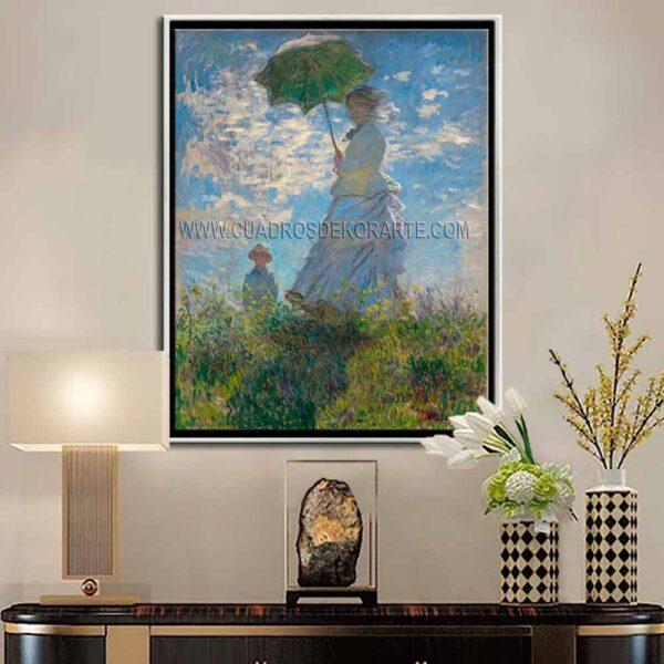 Cuadro decorativo Mujer con sombrilla de Claude Monet impresión digital en canvas
