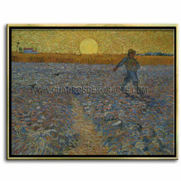 Cuadro Sembrador a la puesta del sol de Vincent Van Gogh impresión digital en canvas