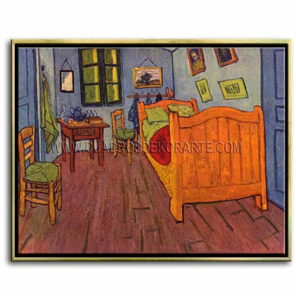 Cuadro El dormitorio en arles de Vincent Van Gogh impresión digital en canvas