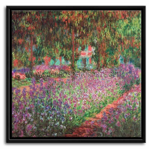 Cuadro El jardín del artista en Giverny de Claude Monet impresión digital en canvas