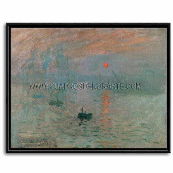 Cuadro Impresión sol naciente de Claude Monet impresión digital en canvas