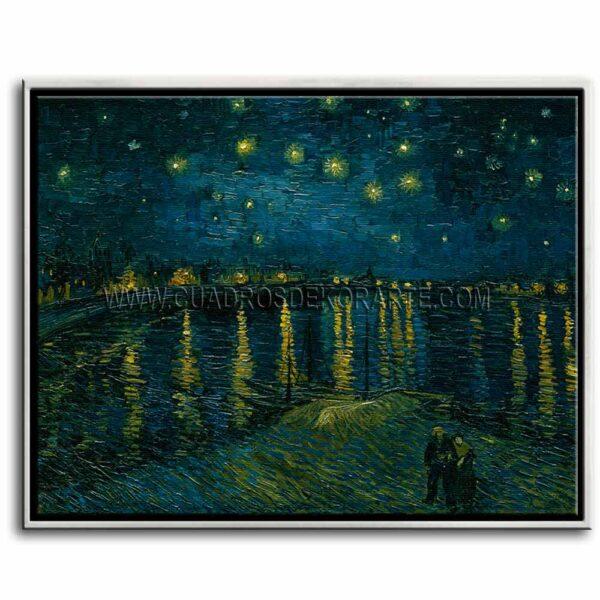 Cuadro La noche estrellada sobre el Ródano de Vincent Van Gogh impresión digital en canvas