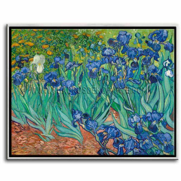 Cuadro Los lirios de Vincent Van Gogh impresión digital en canvas